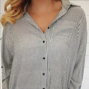 Poem & Thread Boutique Dolman Button Down